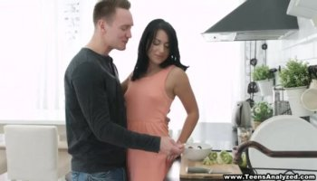 Tight ass Keira Kelly polishes wet cunny